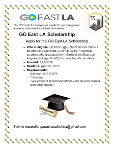 GO East LA Scholarship Flyer